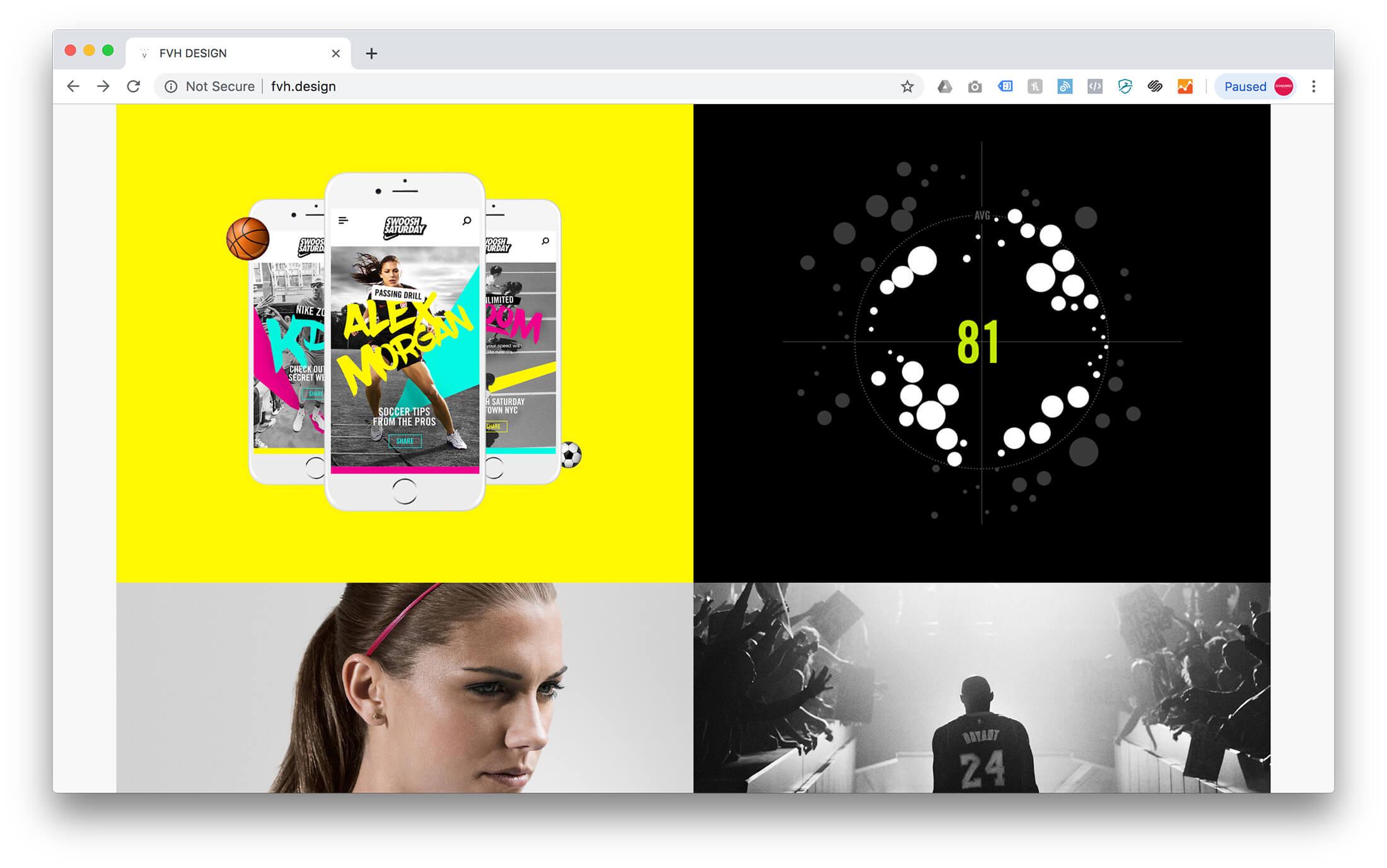 Squarespace Design Portfolio Example - Forrest Von Hoene
