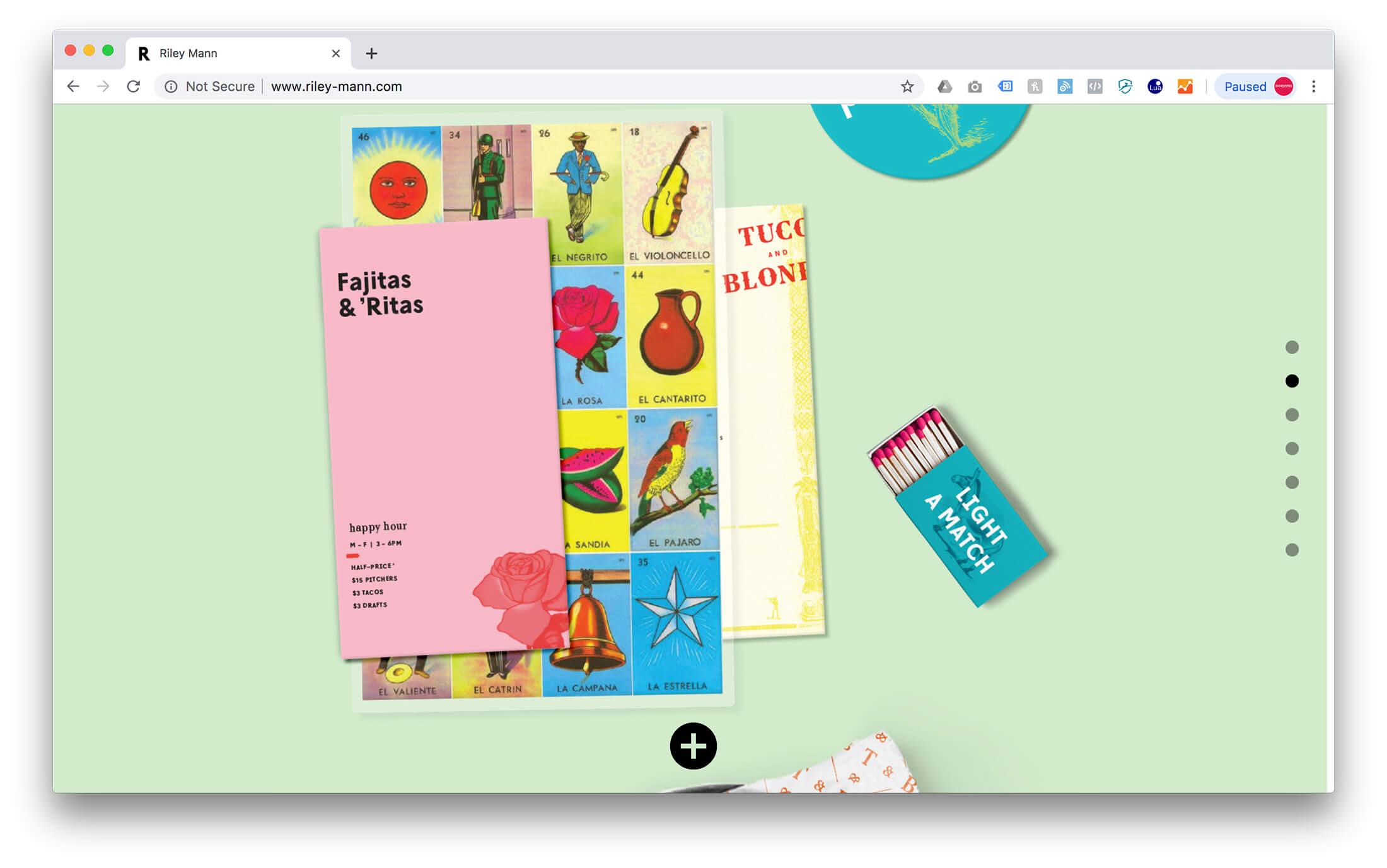 Web Flow Design Portfolio Example - Riley Mann