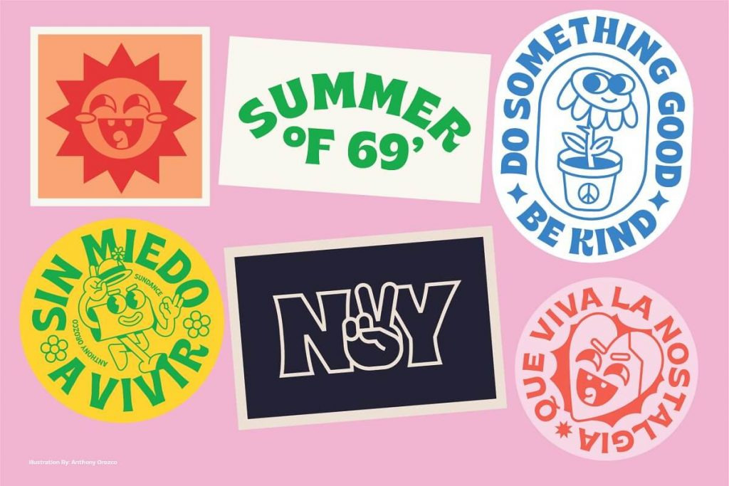 Brice Font Family - Summery Badge examples