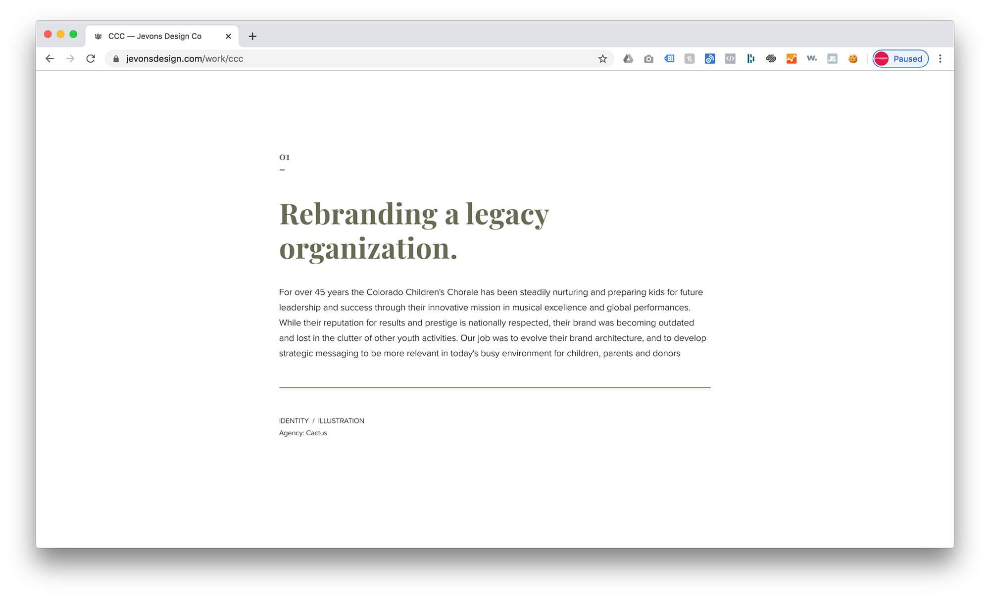 Joshua Jevons - Project description