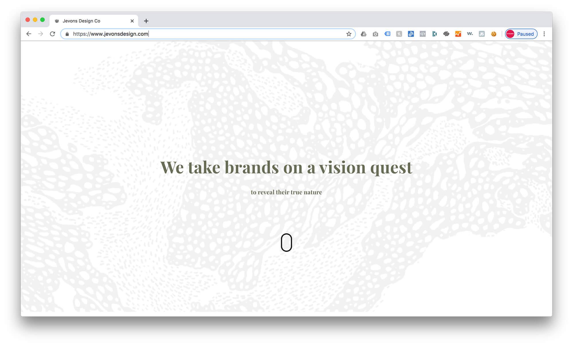 Jevons Design Co –Squarespace Graphic Design Portfolio Example 1