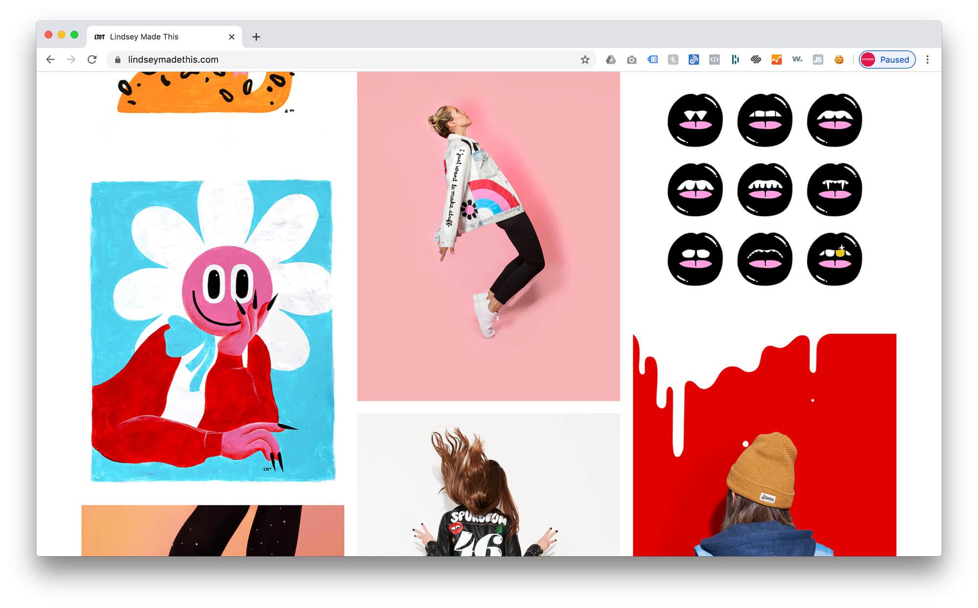 Lindsey Made This - Squarespace Graphic Design Portfolio Example 3